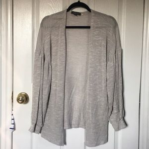 PRIMARK GRAY DROPPED SHOULDER CARDIGAN
